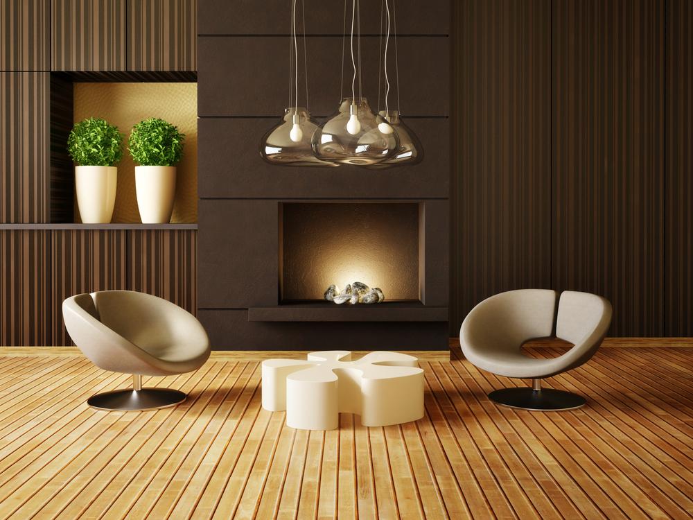 maison en bois interieur